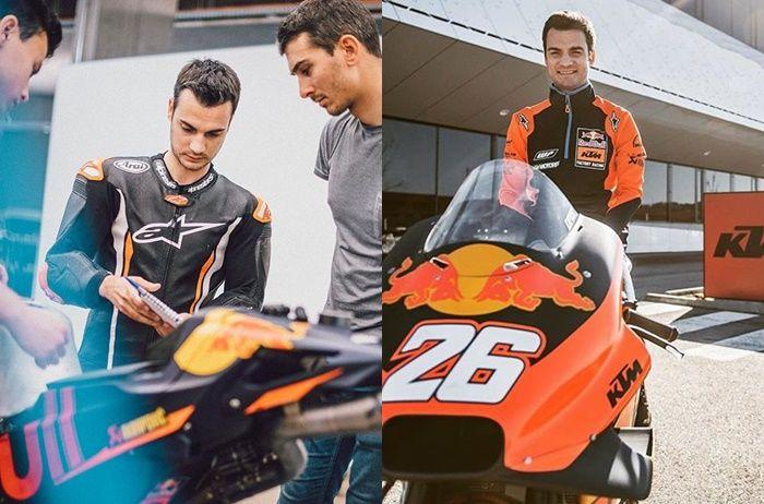 Dani Pedrosa mengetes motor KTM RC16 MotoGP