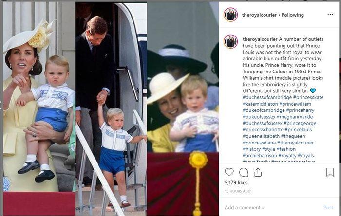 Penampilan Pangeran Louis dan Pangeran Harry.