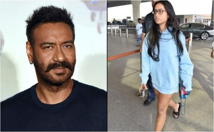 Ajay Devgan (kiri), Nysa Devgan (kanan) (Grid.id/tangkap layar koimoi.com)