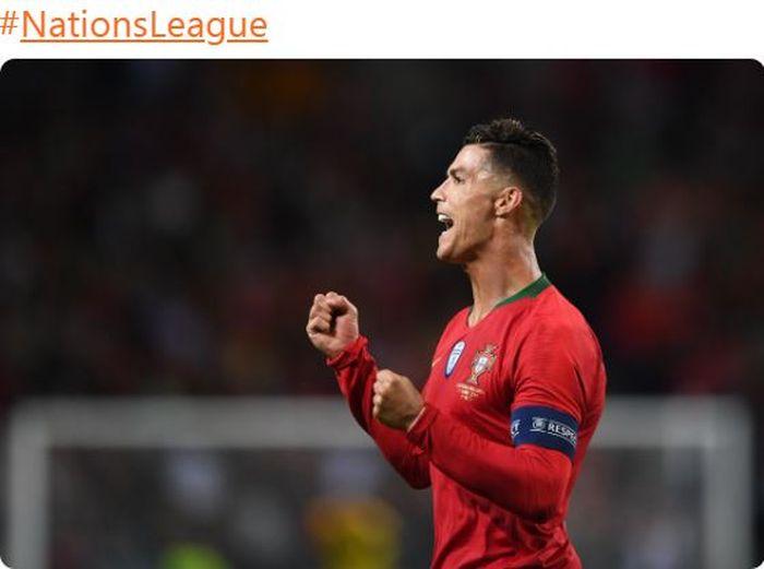 Megabintang timnas Portugal, Cristiano Ronaldo.