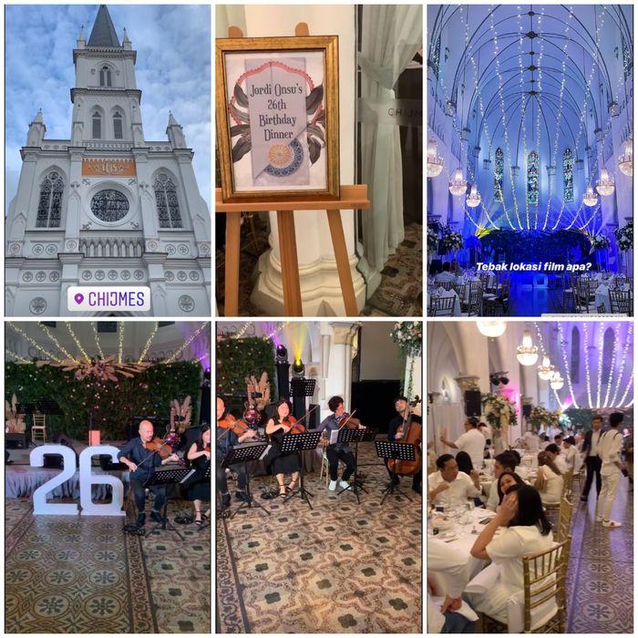 Mewahnya pesta ulang tahun Jordi Onsu di Singapura
