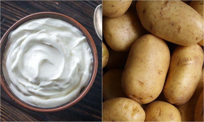 Yogurt tanpa rasa dan kentang