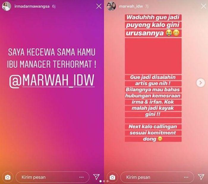 Irma Darmawangsa meluapkan kekecewaannya pada sang manajer