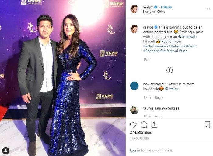 Preity Zinta menyebut Iko Uwais sebagai 'Danger Man' atau pria berbahaya.