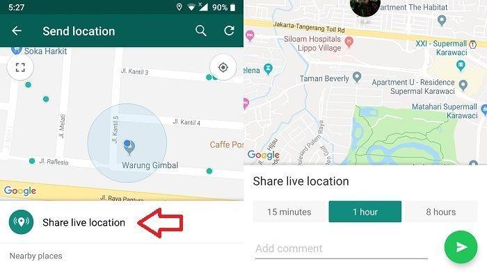 Tips WA: 4 Cara Mudah Share Lokasi Lewat Whatsapp Secara Live, Tak Perlu Khawatir Jika Tersesat
