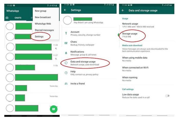 Cara cek grup WhatsApp yang paling banyak pakai memori (1)