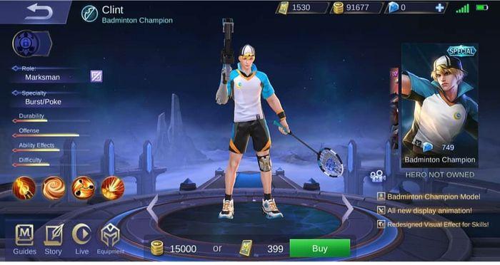 Clint - Badminton Champion