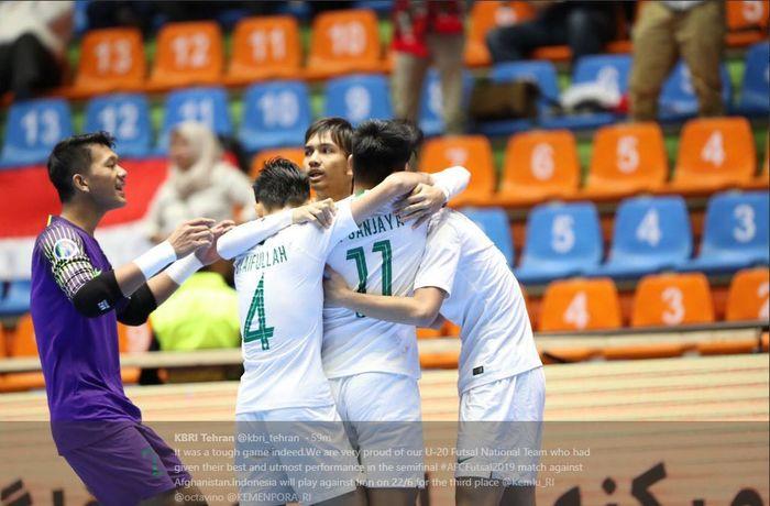 Timnas futsal U-20 Indonesia menghadapi Iran dalam duel perebutan tempat ketiga Piala Asia Futsal U-20 2019 di Tabriz, 22 Juni 2019.