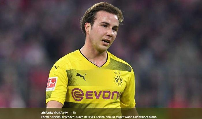 Gelandang serang milik Borussia Dortmund, Mario Goetze