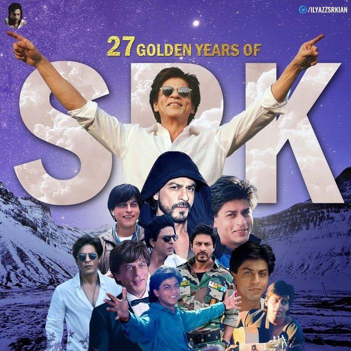 enggemar Shah Rukh Khan rayakan 27 tahun karier sang idola.