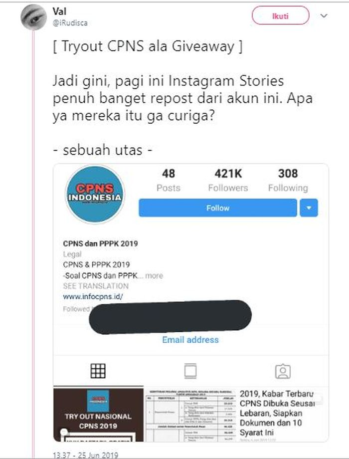 Ramai Ajakan Tryout Online Cpns 2019 Serentak Se Indonesia