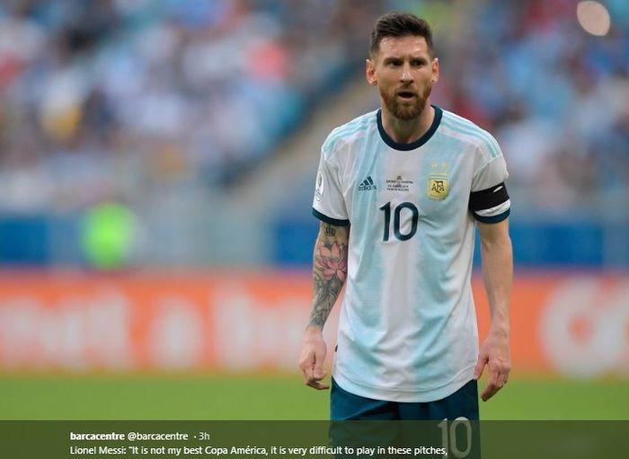 Megabintang sekaligus kapten timnas Argentina, Lionel Messi