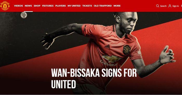 Bek kanan Manchester United yang terbaru, Aaron Wan-Bissaka