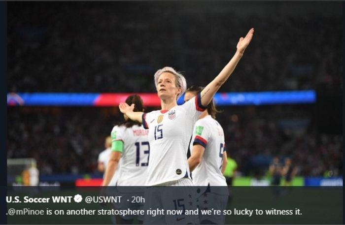 Kapten timnas putri Amerika Serikat, Megan Rapinoe.