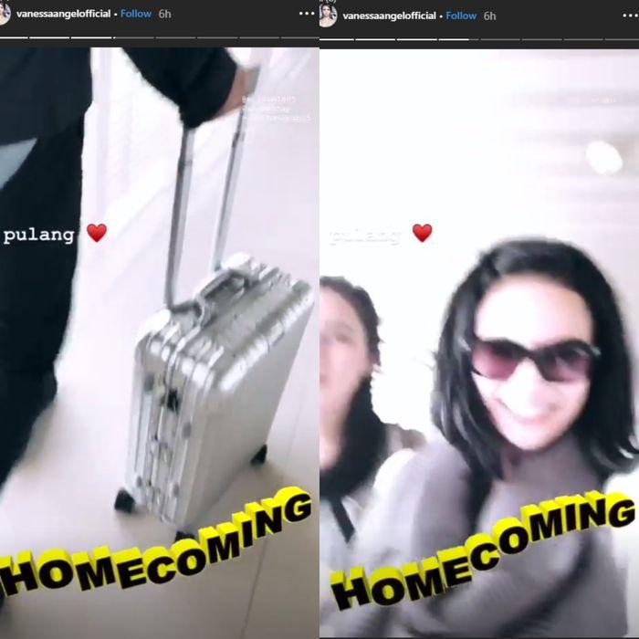 Instagram story Vanessa Angel