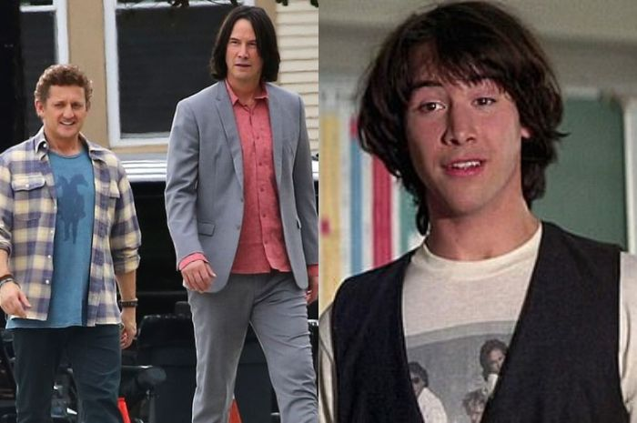 Kolase Keanu Reeves saat mainkan peran Ted masa kini dan sekarang