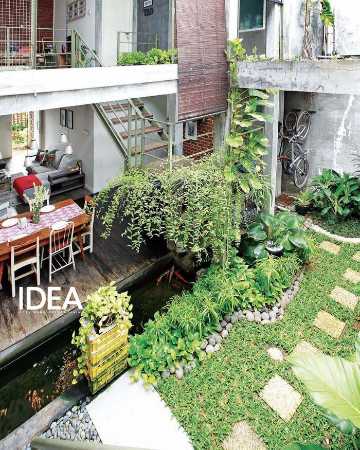 Design Dapur Menyatu Dengan Taman  10 ruang makan dekat taman ini jadi serasa bersantap di alam