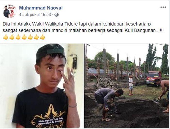 Unggahan Facebook Muhammad Nauval