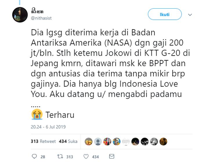 Jokowi dikabarkan beri tawaran spesial untuk Audrey yu