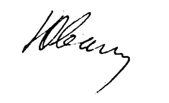 Tulisan tangan miring ke bawah