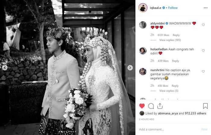 Iqbaal Ramadhan mendampingi kakak kandung perempuannya saat menikah