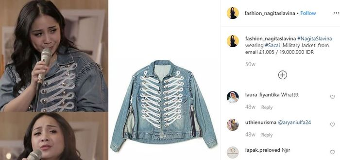 Military Denim Jacket dari brand Sacai