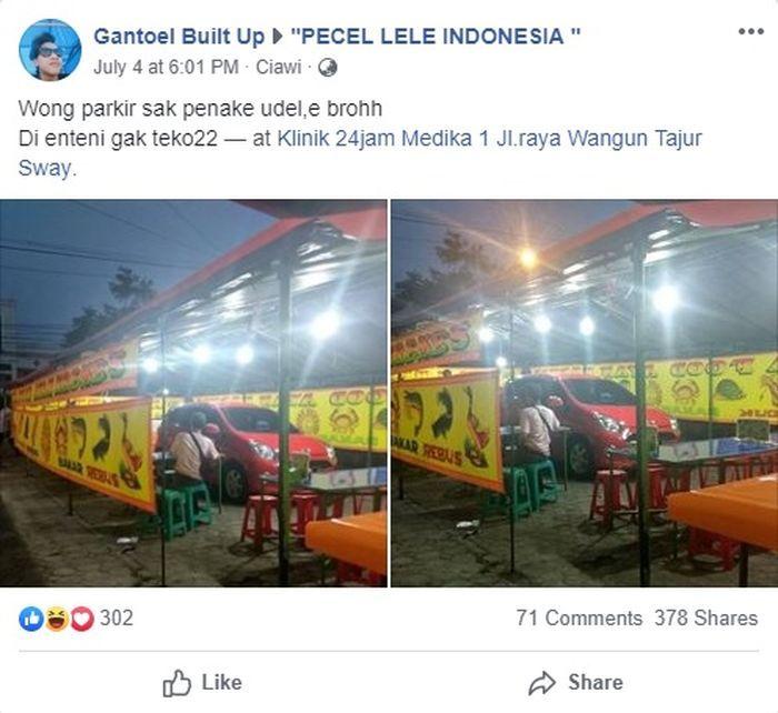 Postingan Facebook Gantoel Built Up