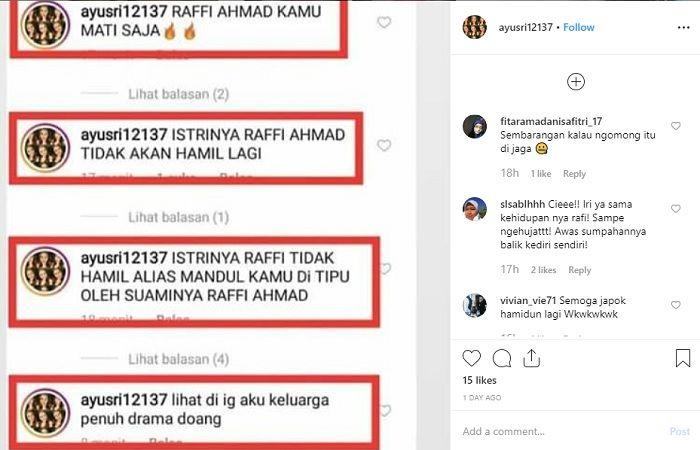 akun haters Raffi Ahmad