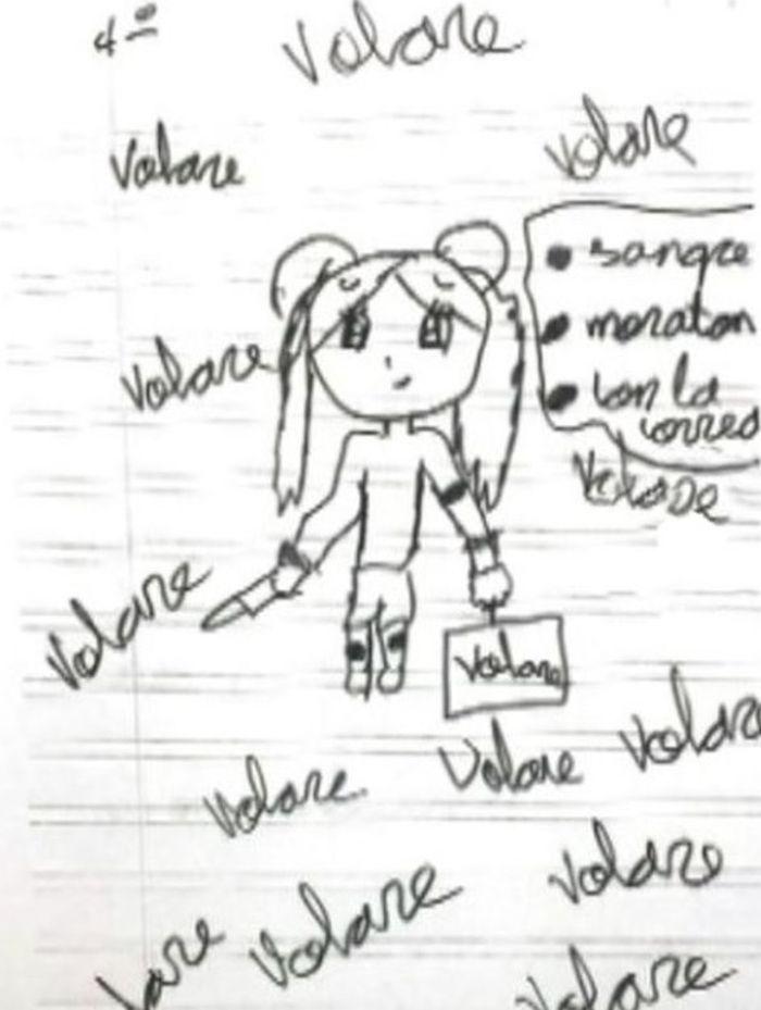 Gambar yang dibuat oleh gadis kecil itu