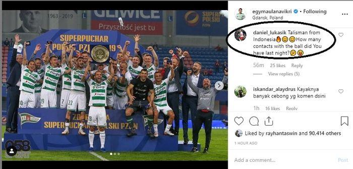Pertanyaan menohok yang dilontarkan Daniel Lukasik untuk Egy Maulana Vikri di Piala Super Eropa 2019-2020.