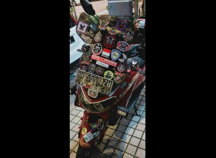 Motor N-Max yang dikendarai Lilik Gunawan (38) menuju Tanah Suci.