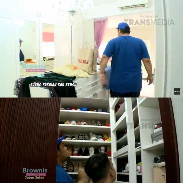 Ruben juga memiliki kamar khusus pakaian dan sepatu di dalam rumahnya