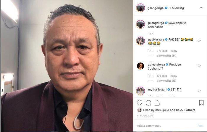 nstagram @gilangdirga
