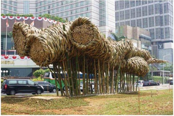 Instalasi Seni Bambu
