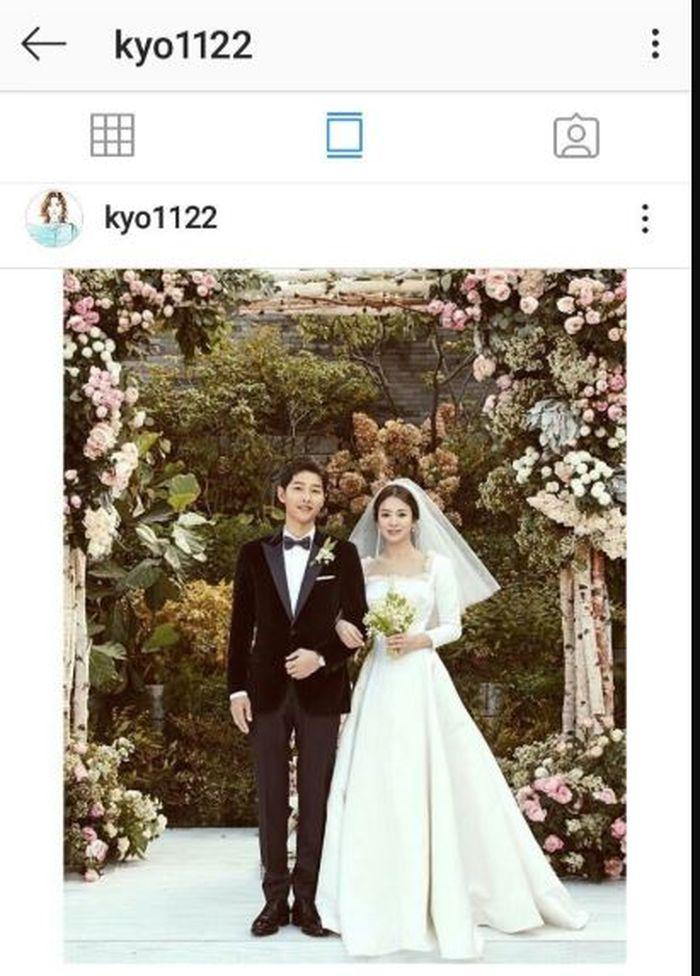 Foto pernikahan Song Joong Ki dan Song Hye Kyo