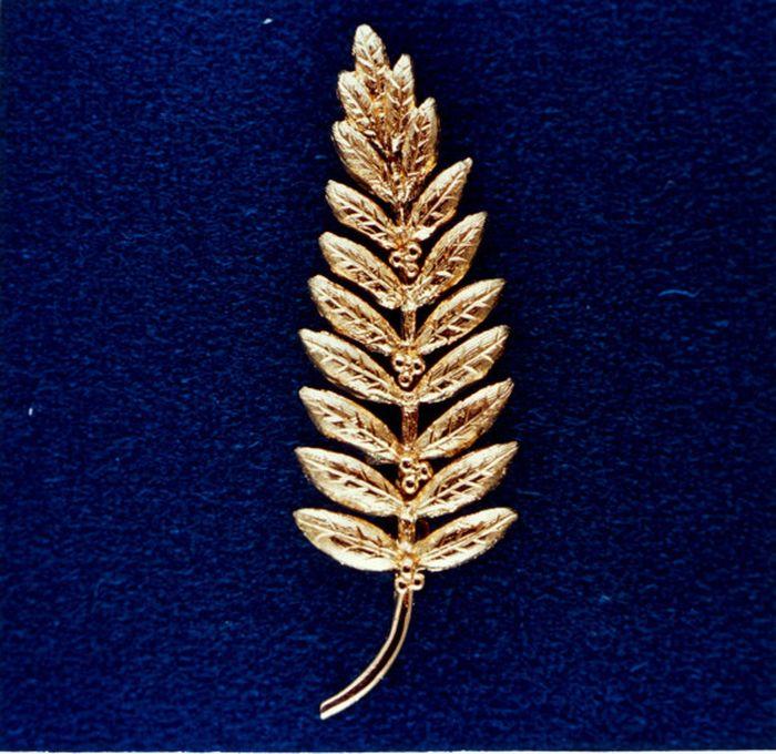 Emas dalam bentuk cabang zaitun.