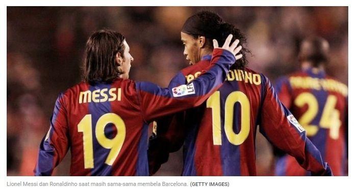 Messi dan Ronaldinho
