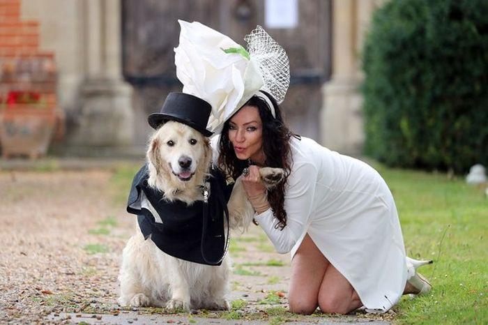 Elizabeth Hoad, 49, model di Inggris yang ingin menikahi anjing peliharaannya.