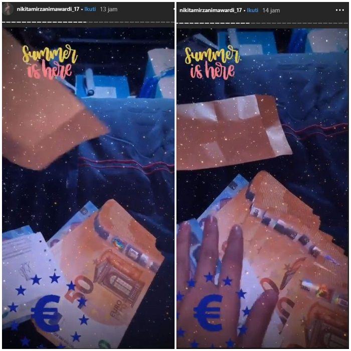 Nikita Mirzani pamer uang Euro