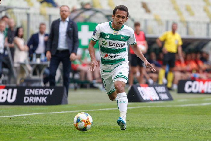Aksi Egy Maulana Vikri saat bermain melawan Wisla Krakow pada lanjutan Ekstraklasa musim 2019-2020 pada Minggu (28/7/2019).