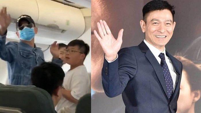 Andy Lau kepergok ada di pesawat kelas ekonomi