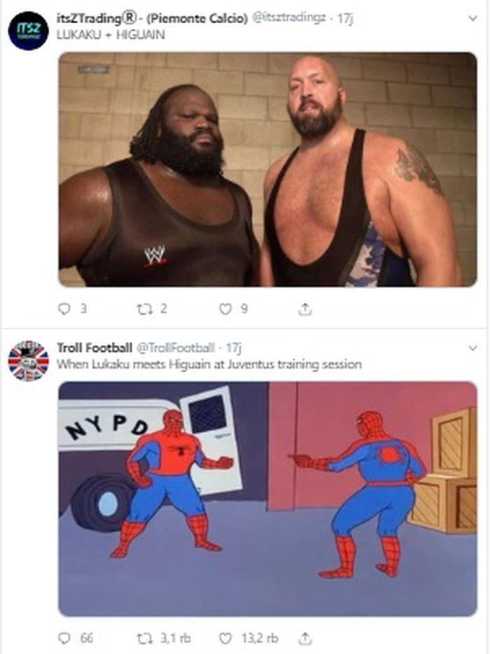 Meme dari @itsztradingz dan @TrollFootball