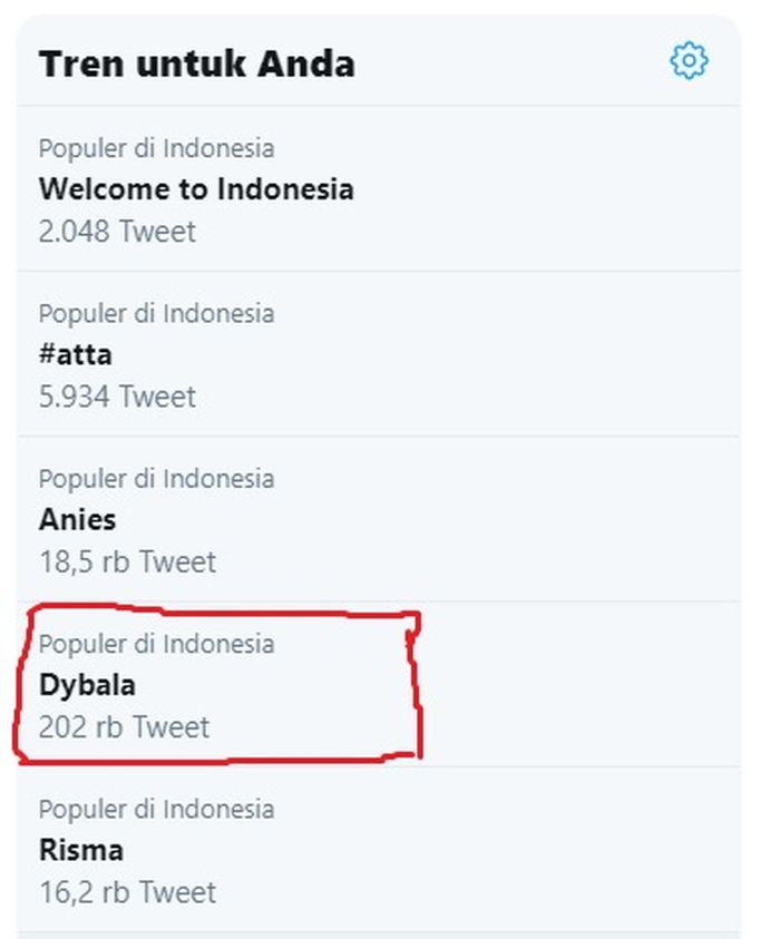 Trending Topic Dybala
