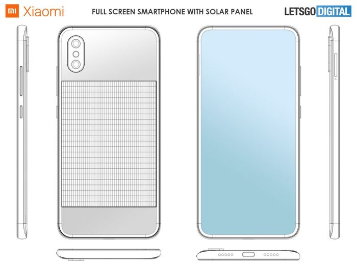 Desain hape Xiaomi dengan panel surya