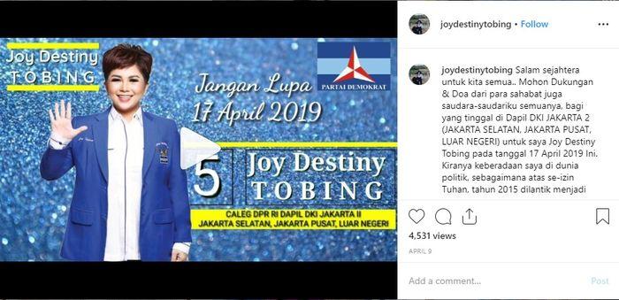 Joy Tobing kini jadi politisi