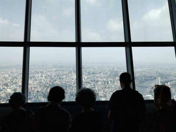 Dek observasi di Tokyo Skytree. Shot on OPPO Reno 10x Zoom.