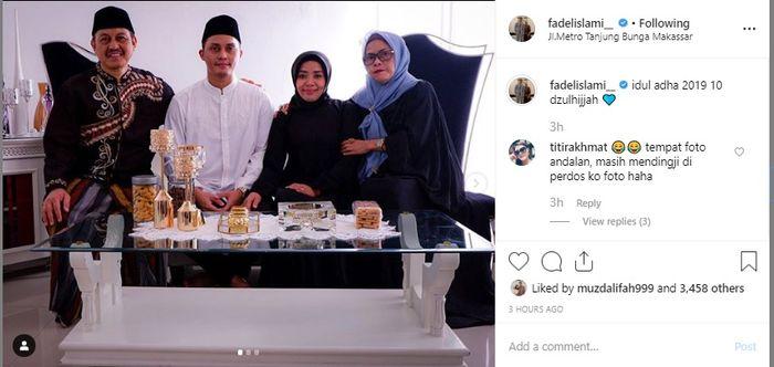 Fadel Islami rayakan Idul Adha 2019 bersama keluarga di Makassar.