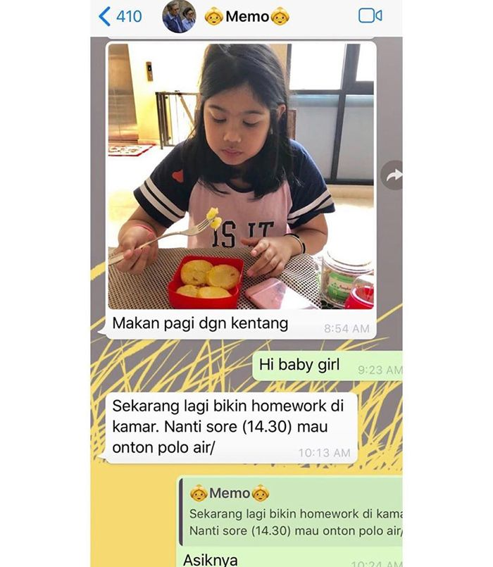 Isi pesan WhatsApp Ani Yuhdoyono dengan Annisa Pohan