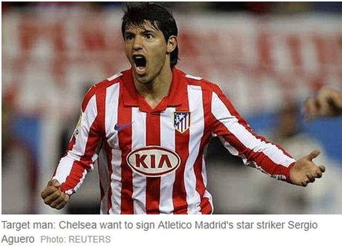 Sergio Aguero ketika masih berseragam Atletico Madrid