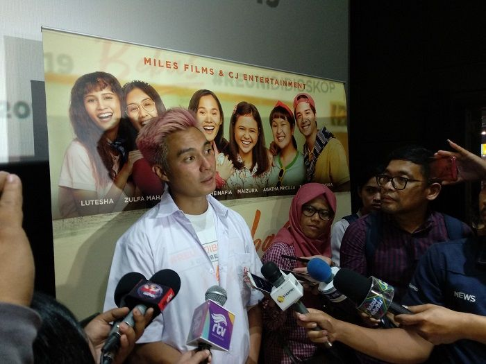 Baim Wong saat ditemui di acara jumpa pers film Bebas, Rabu (14/8/2019)
